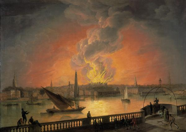05 07 burning of drury lane from westminster bridge
